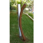 stainless steel modern outdoor garden sculpture
