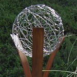 steel modern abstract outdoor garden sculpture