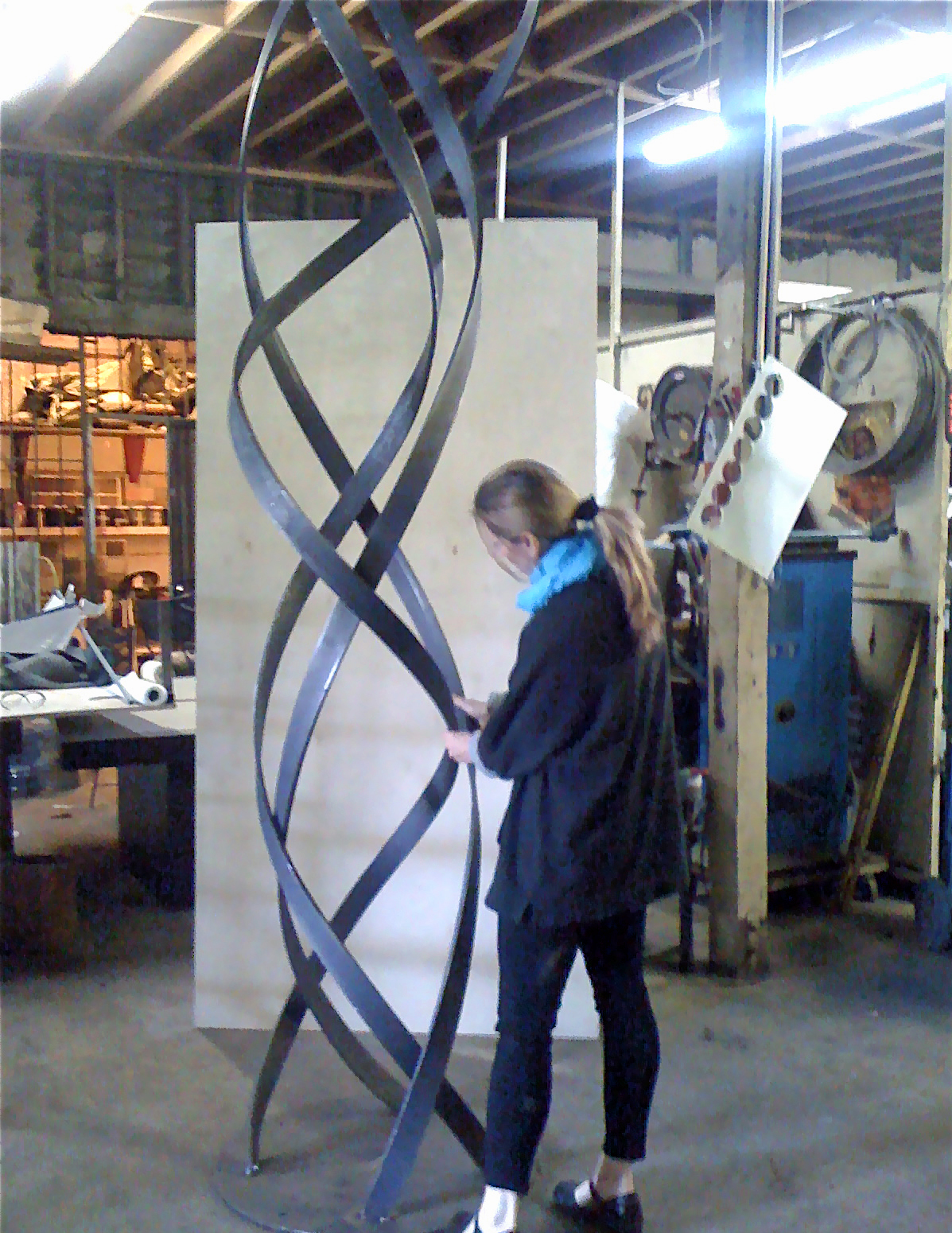 Jennifer Asher studio steel modern abstract sculpture outdoor Kismet 10 ft.
