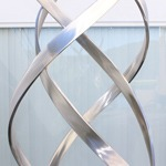 stainless steel modern outdoor sculpture