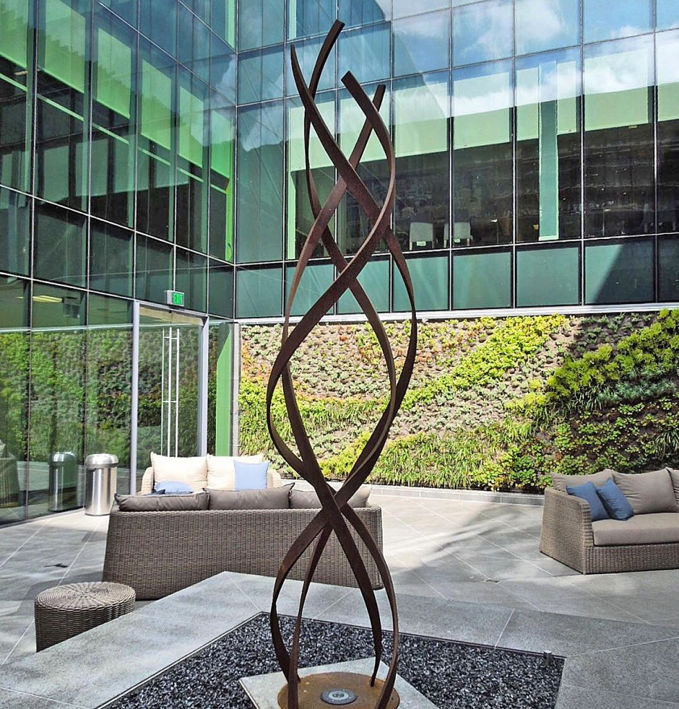 modern abstract outdoor sculpture Terra Sculpture Beverly Hills