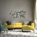 estrella modern abstract powdercoated wall sculpture