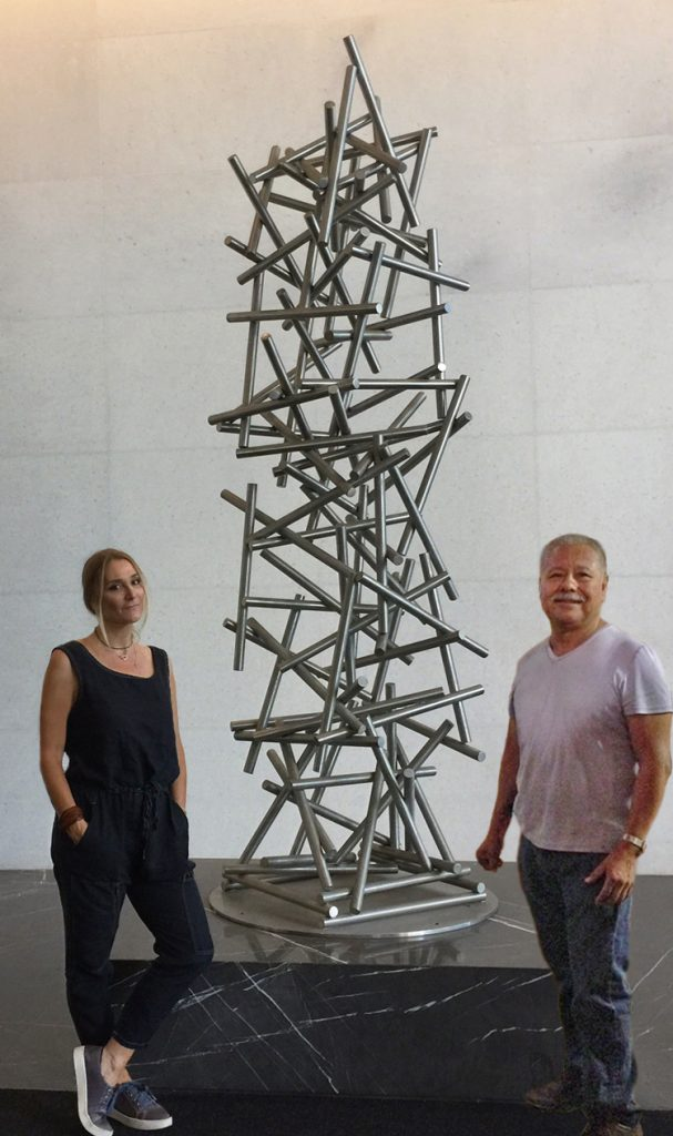 modern abstract outdoor contemporary sculpture