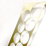 modern contemporary abstract brass wall sculpture