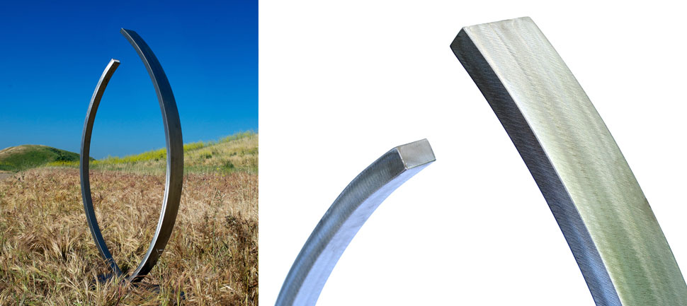 Embrace - Stainless Steel Outdoor Art Sculptures | TerraSculpture