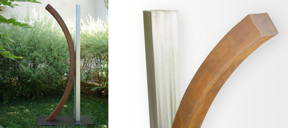 Relaxed - Stainless Steel Outdoor Art Sculptures | TerraSculpture