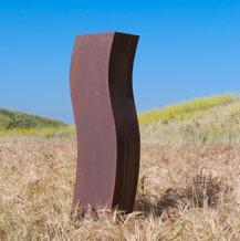 steel modern outdoor garden sculpture