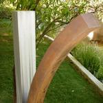 stainless steel modern outdoor garden sculpture
