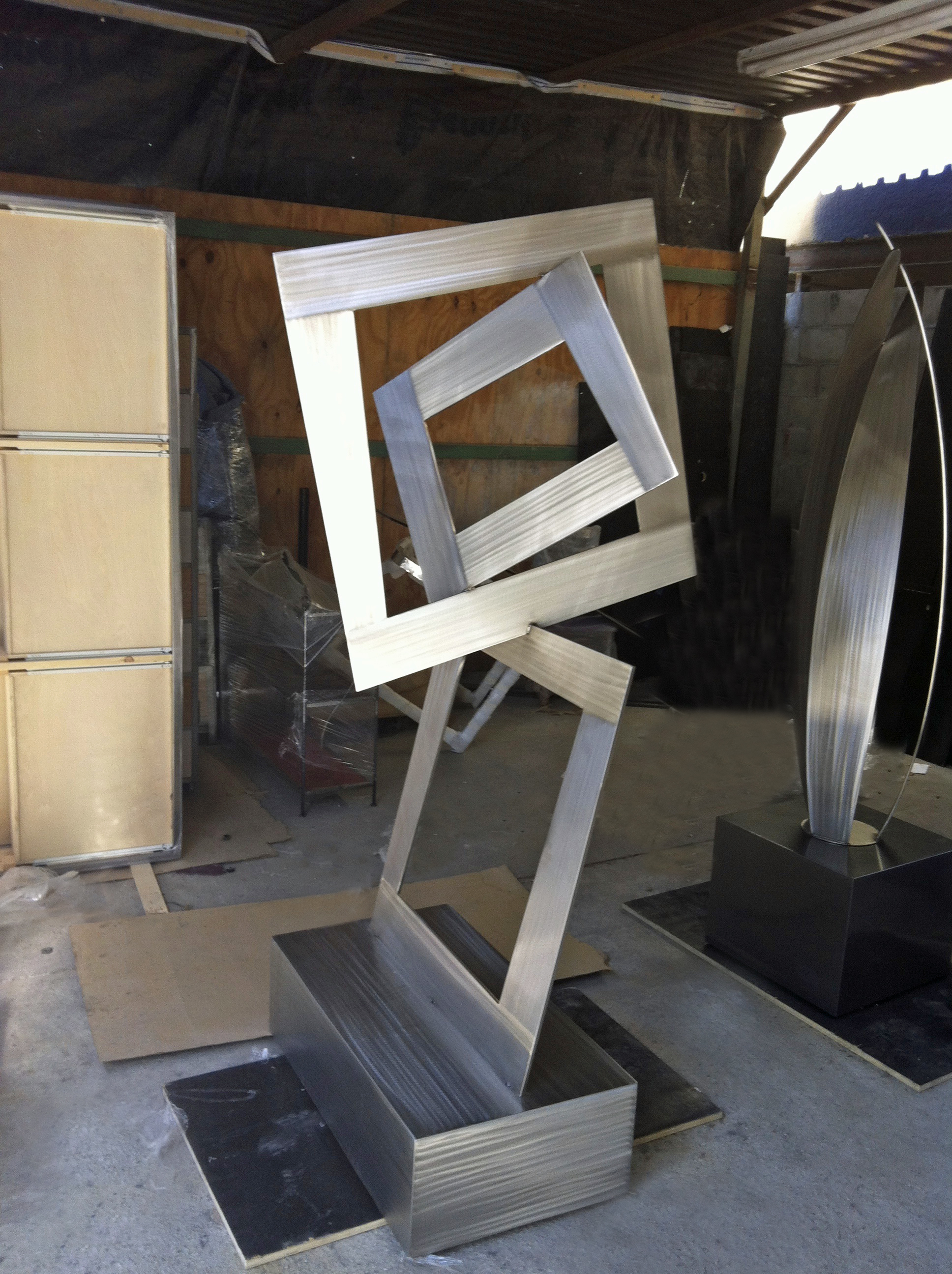 Terra Sculpture Modern Abstract Outdoor Sculpture Studio