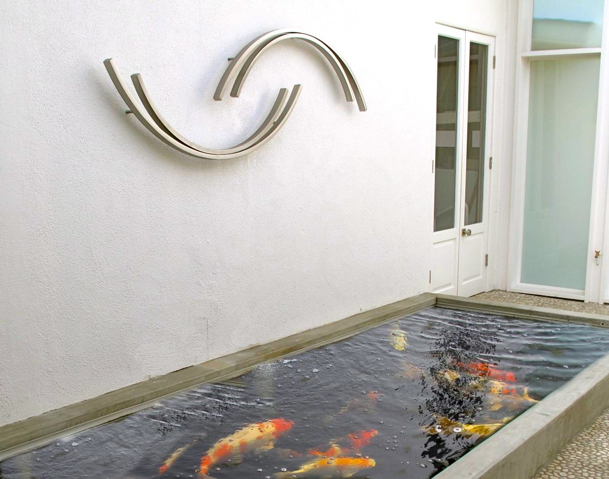 TerraSculpture Commission Koi courtyard