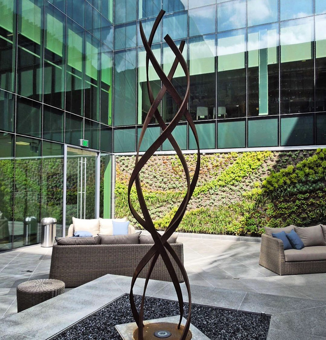 kismet stainless steel outdoor art sculpture terrasculpture