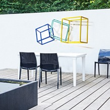 modern abstract contemporary outdoor wall sculpture