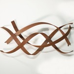 modern abstract weathered steel wall sculpture product