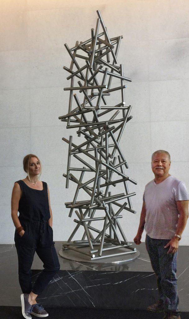 modern abstract outdoor contemporary sculpture