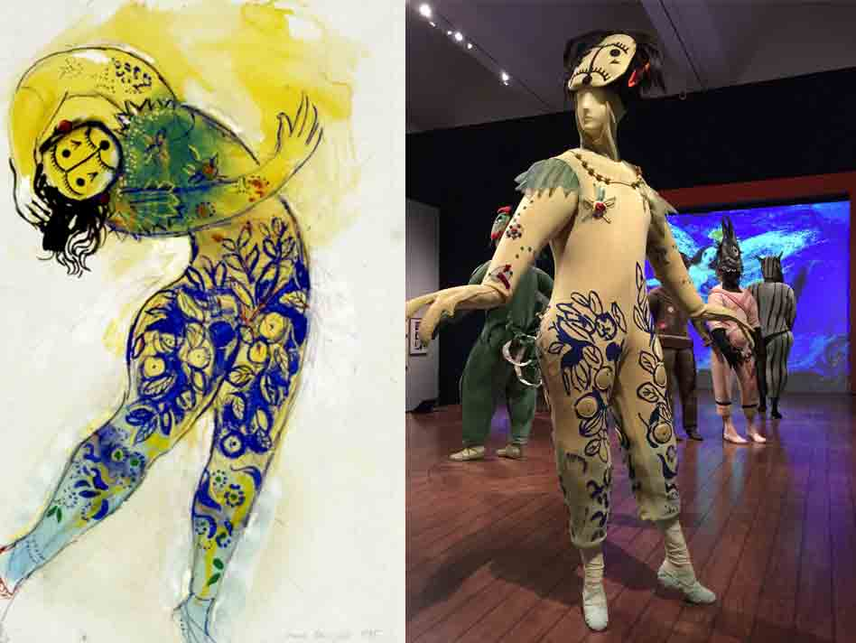 Marc Chagall's costume design for The Firebird