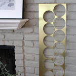 modern contemporary abstract brass wall sculpture
