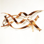 modern abstract copper wall sculpture product