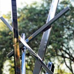 modern abstract art mirrored contemporary outdoor sculpture