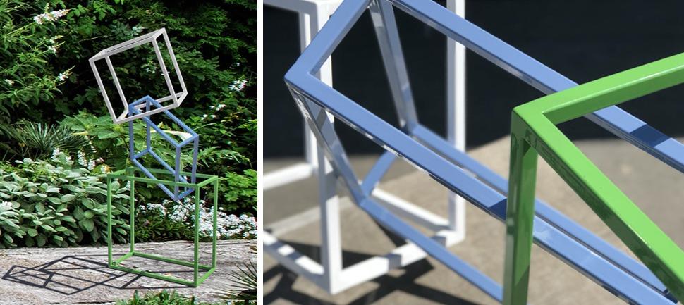 powercoated steel garden sculpture