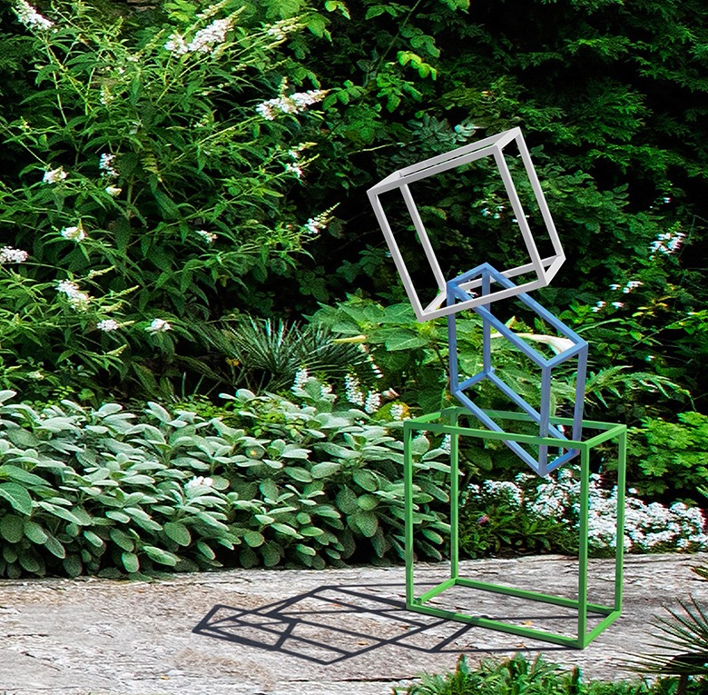 standing gesture special commission modern garden sculpture main