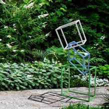 standing gesture modern powercoated garden sculpture
