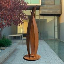 Flight Weathered Steel Garden Sculpture