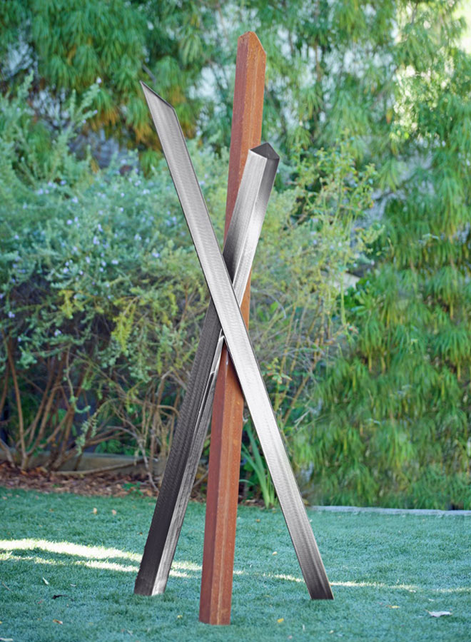 modern outdoor sculpture Egress by Terra Sculpture