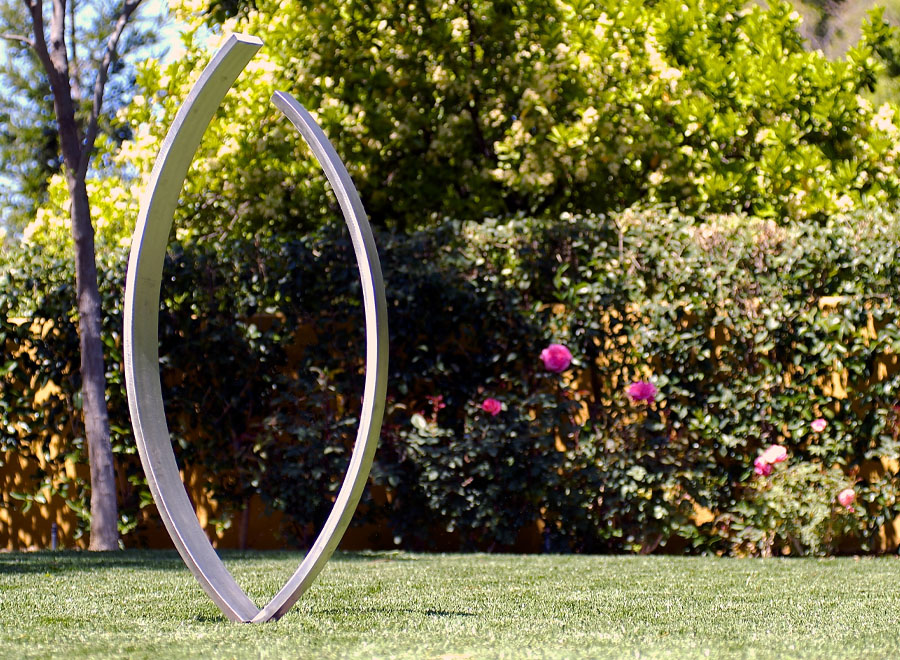 embrace stainless steel sculpture 1