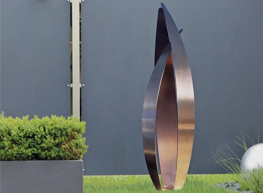 flight copper sculpture