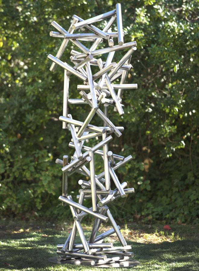 gravity stainless steel sculpture