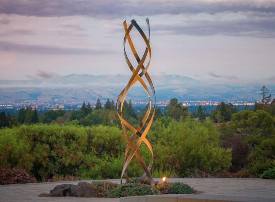 kismet weathered steel sculpture