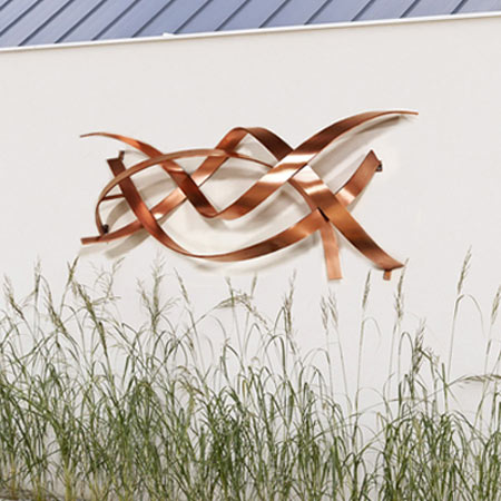 Mudra Copper Wall Sculpture
